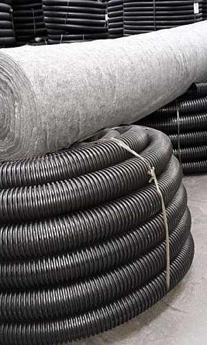 Tubo corrugado com manta geotêxtil