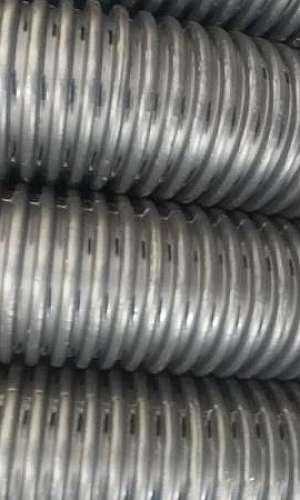 Tubo corrugado perfurado para drenagem