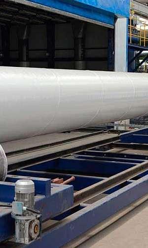 Tubo de aço para saneamento